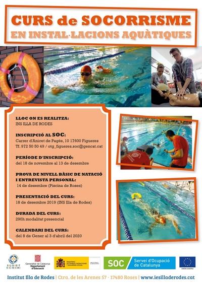 L'institut Illa de Rodes de Roses impartirà un curs de Socorrisme en Instal·lacions Aquàtiques