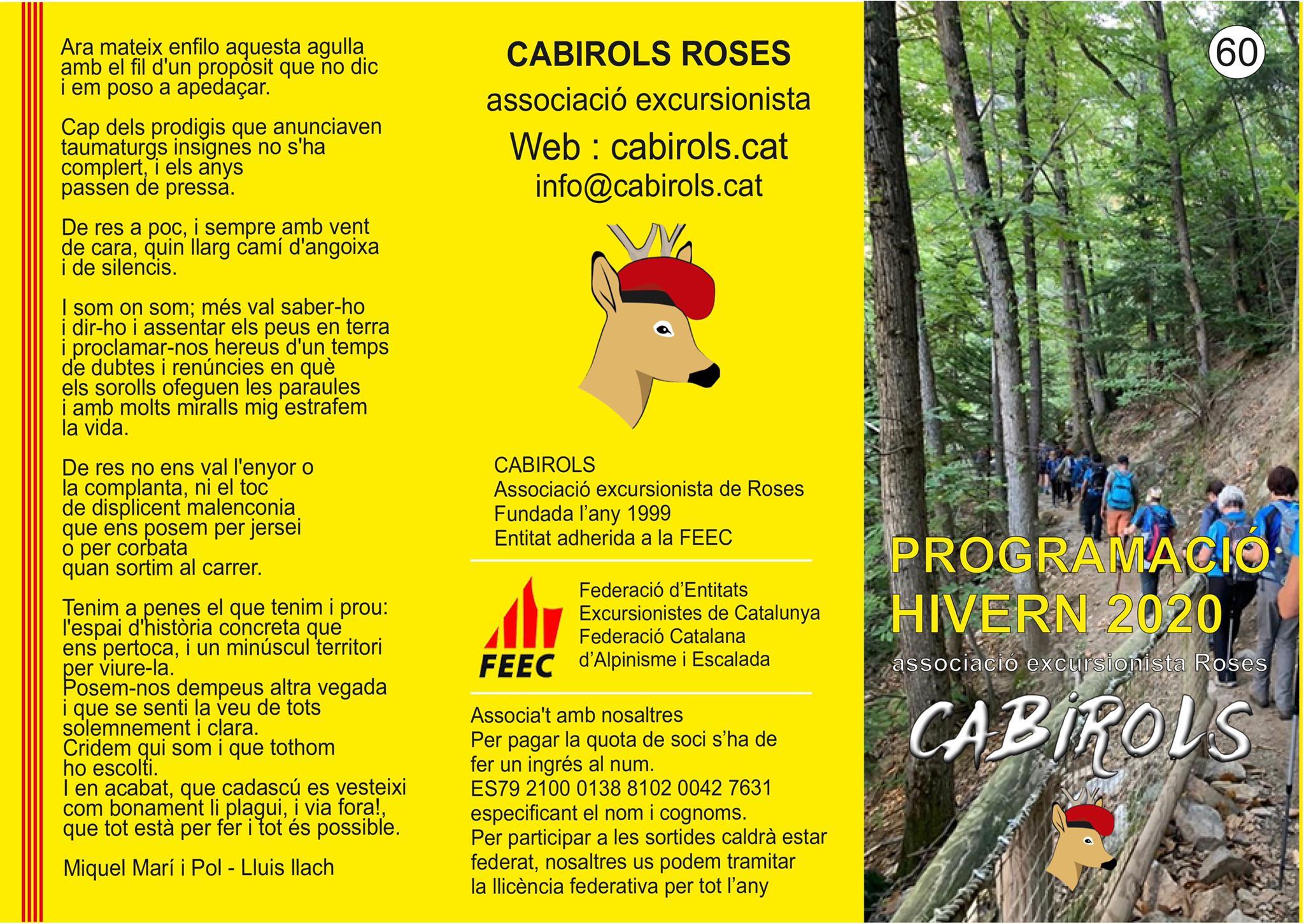 Nova temporada d'activitats amb els Cabirols de Roses