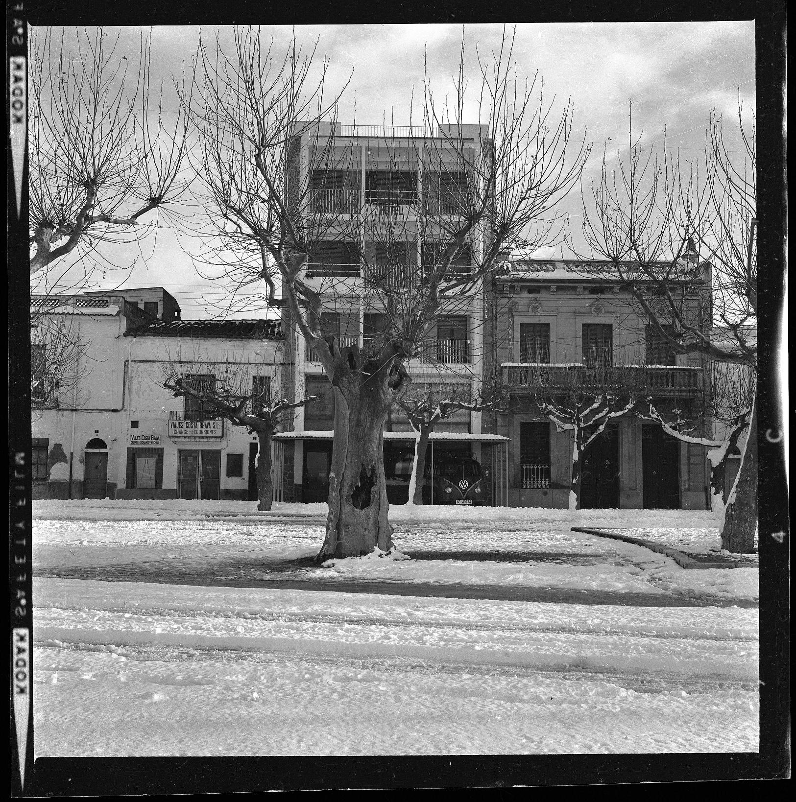 Una imatge de la nevada de Nadal de 1962 a Roses, Document del Mes de l'AMR