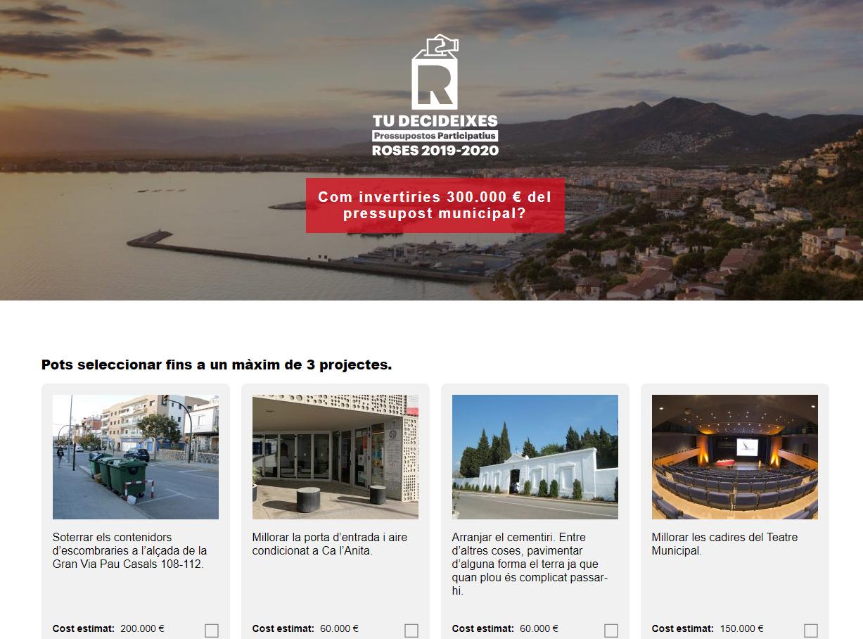 Rosincs i rosinques poden votar fins al dia 18 els projectes finalistes dels Pressupostos Participatius 2020