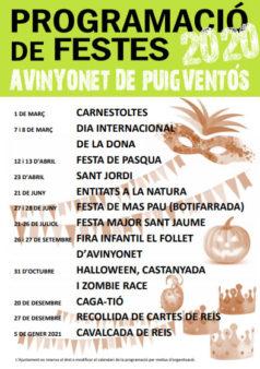 Programa de Festes Avinyonet de Puigventós