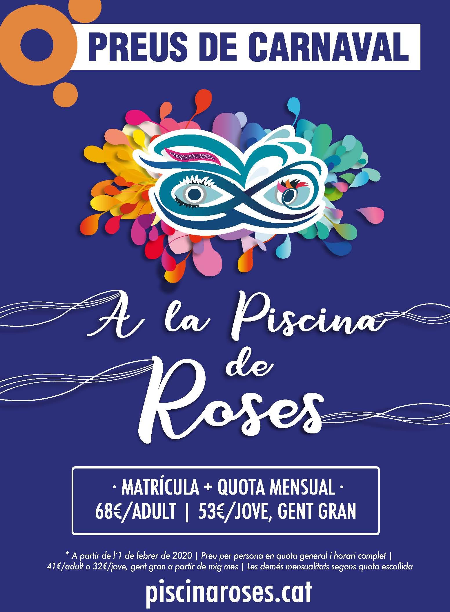 Preus de Carnaval a la Piscina de Roses