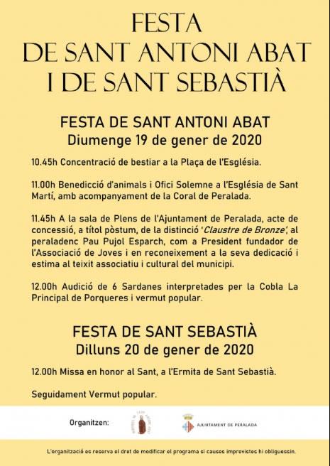Peralada celebra la Festa de Sant Antoni i homenatjarà, a títol pòstum, a Pau Pujol Esparch