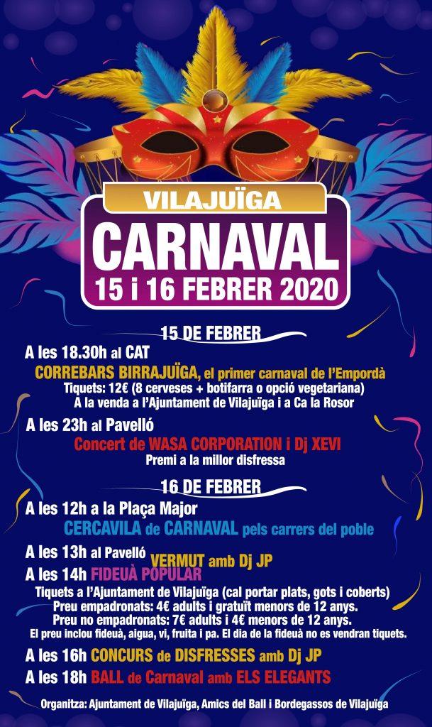 Arriba el Carnaval de Vilajuïga 2020, el primer de l'Empordà!