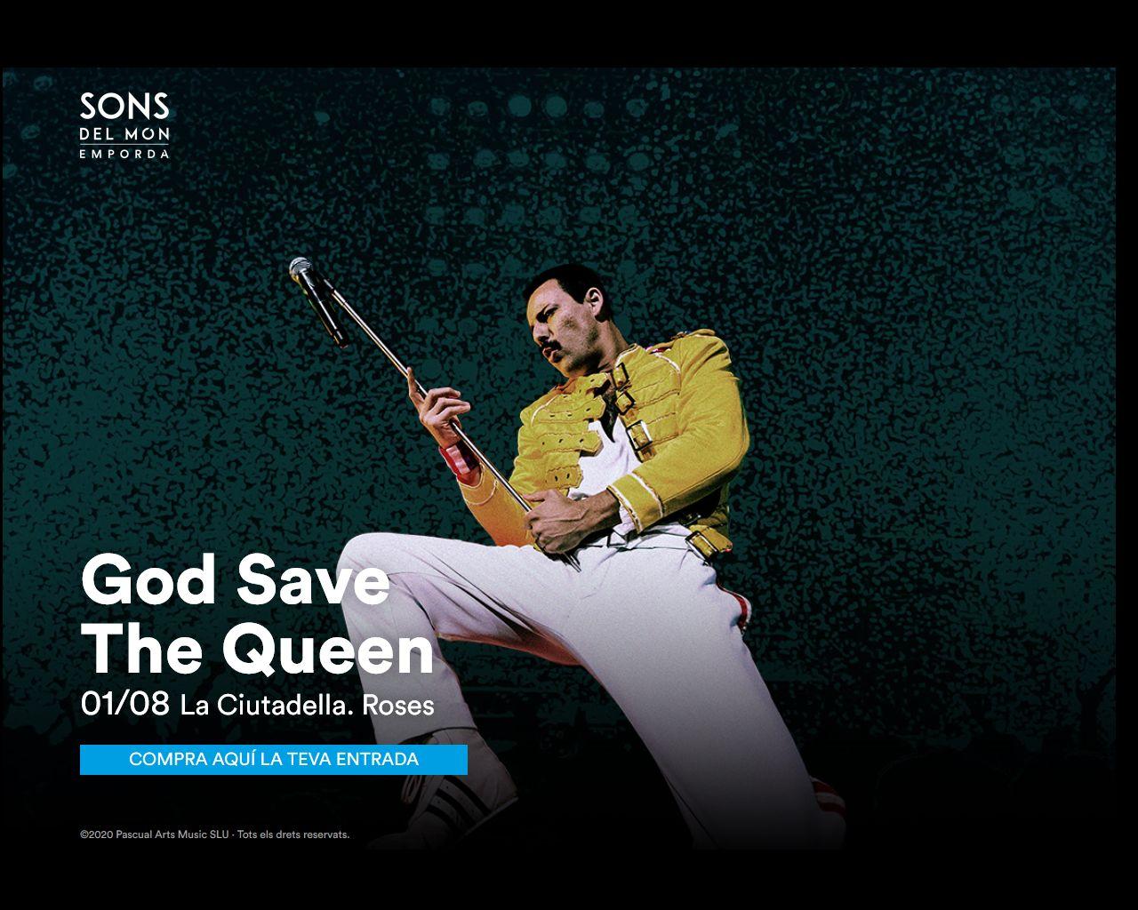 God Save the Queen actuarà l'1 d'agost a la Ciutadella