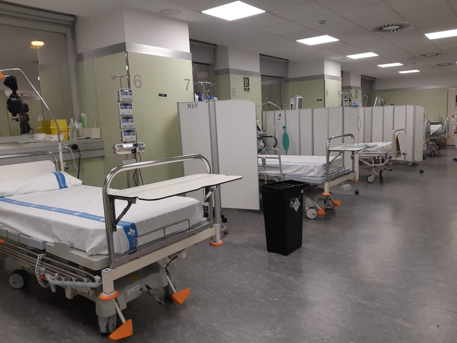 La Regió Sanitària Girona amplia la capacitat de llits per atendre els pacients amb Covid19 en situació crítica