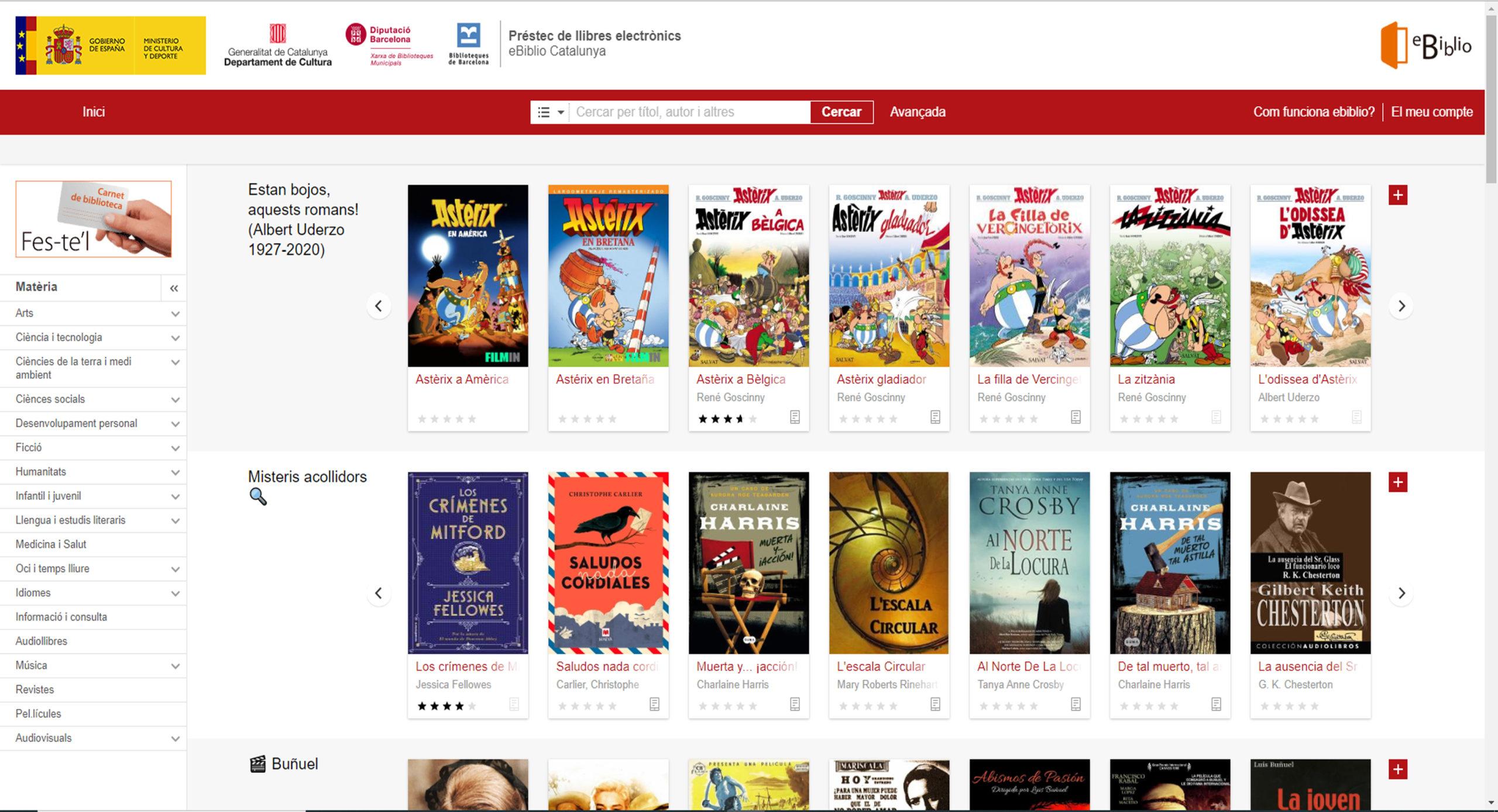 El servei ebiblio ofereix gratuïtament més de 100.000 títols entre llibres, música i cinema