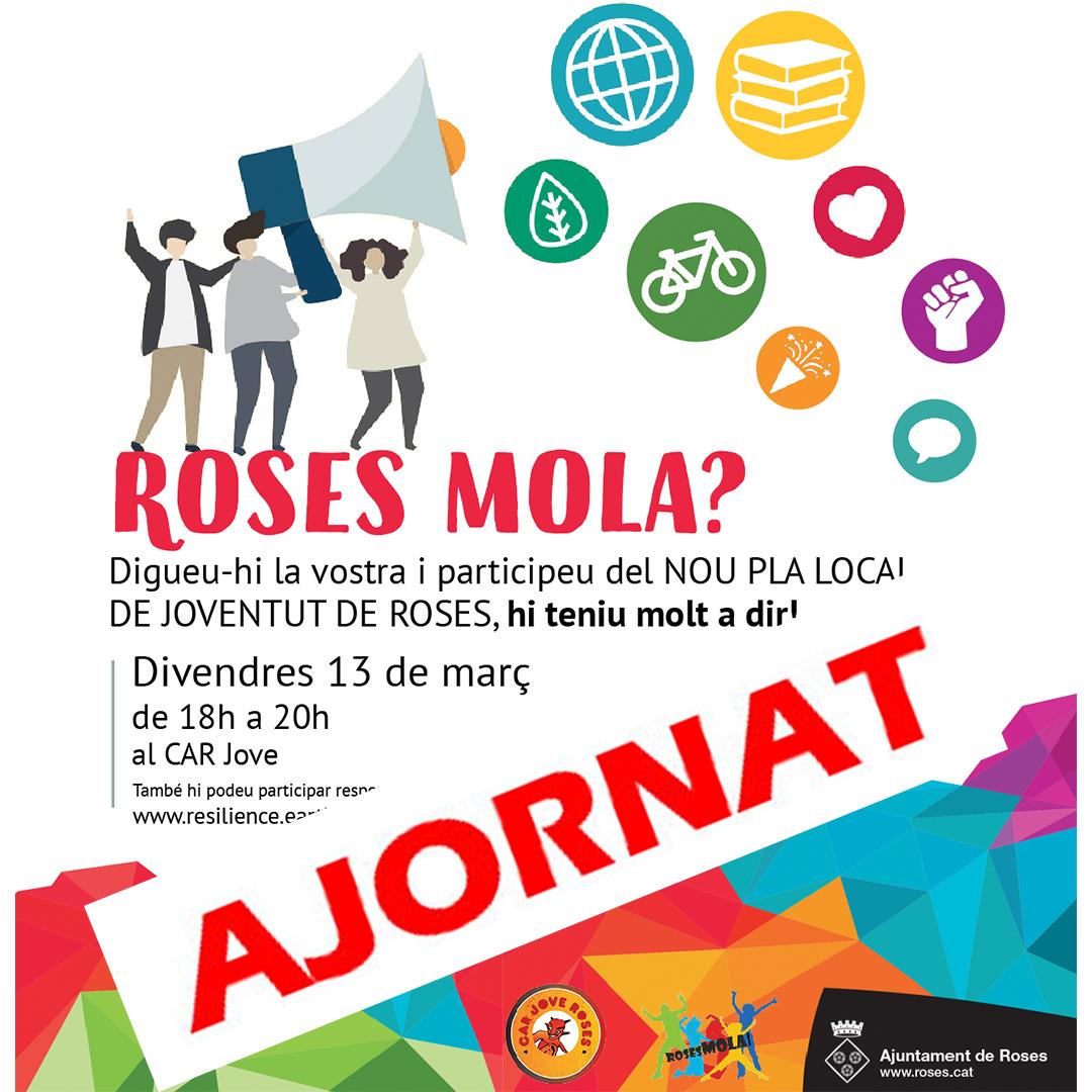 Roses Mola? Jornada per crear de manera participativa el Pla Local de Joventut de Roses