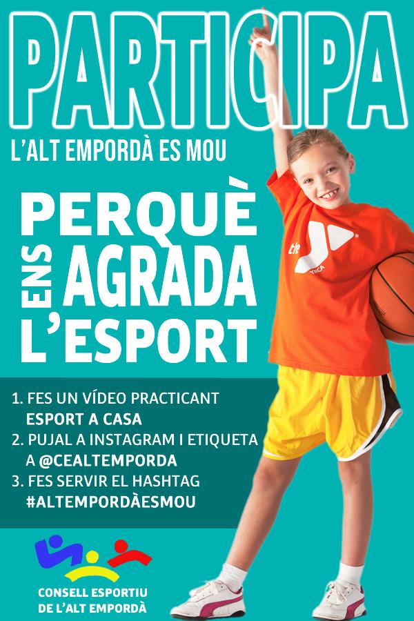El Consell Esportiu de l'Alt Empordà impulsa la Campanya #AltEmpordàEsMou