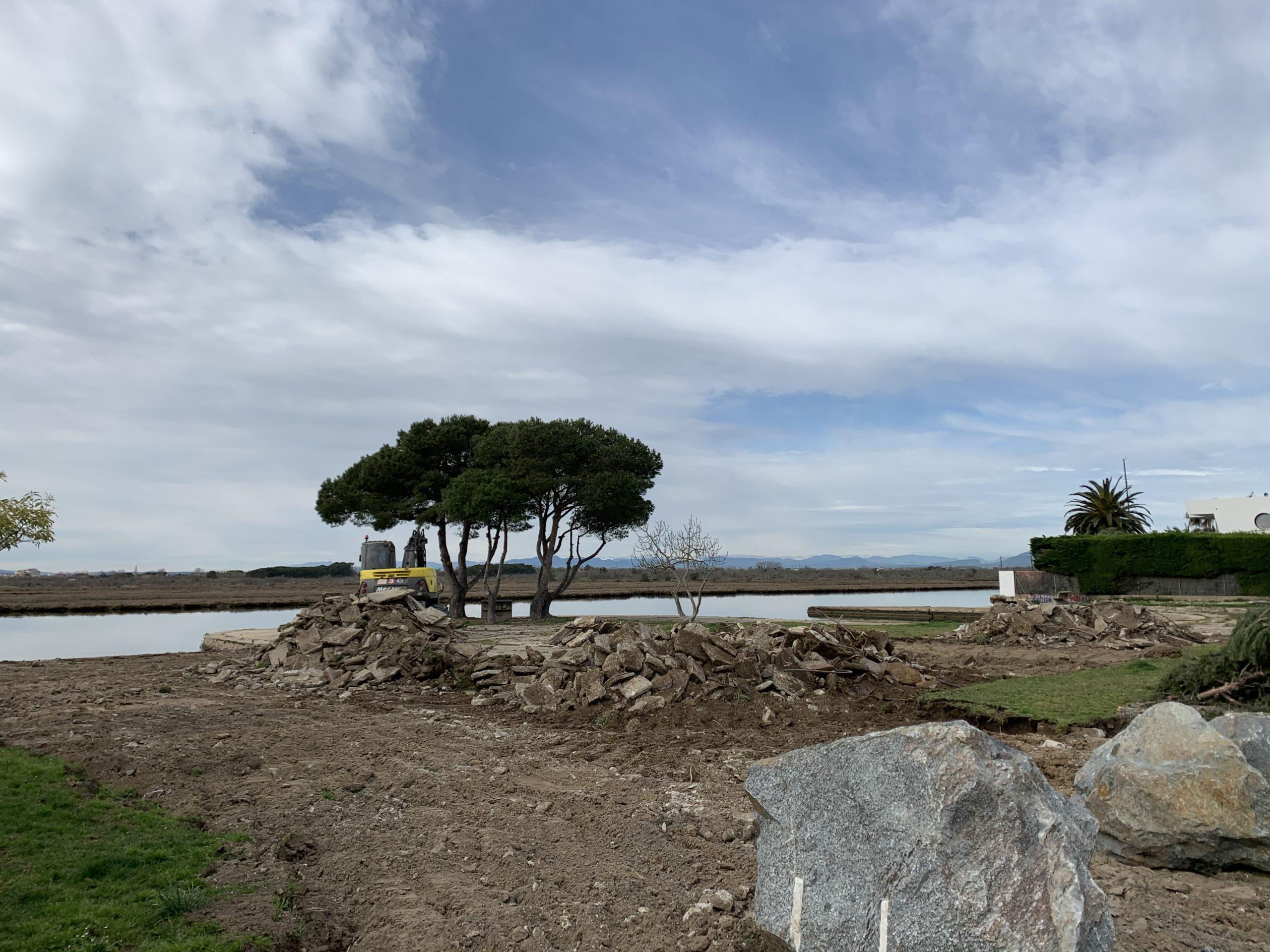 Comença el projecte per dotar el canal Gran de Santa Margarida d'una zona verda i mirador als Aiguamolls
