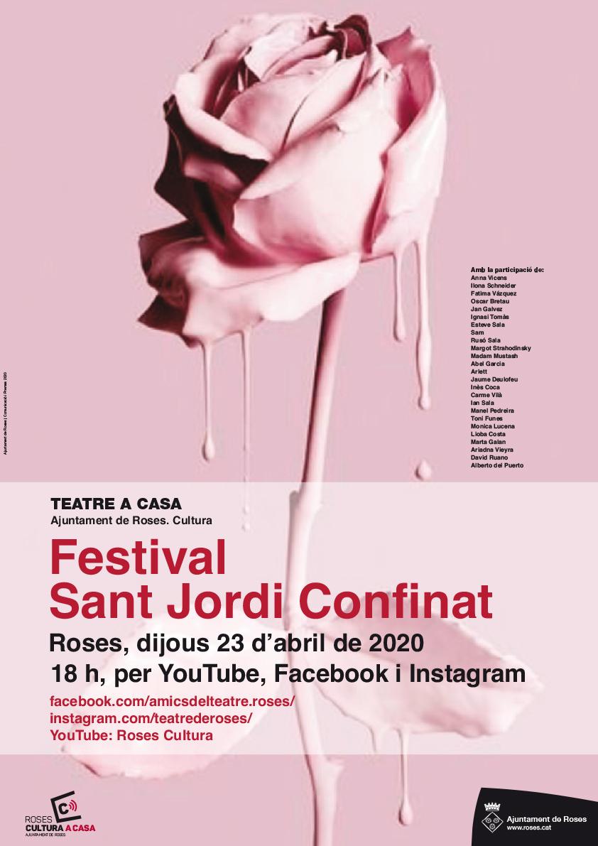 25 artistes rosincs ofereixen el Festival Sant Jordi Confinat