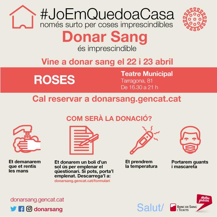 Roses acollirà campanyes especials  de donació de sang