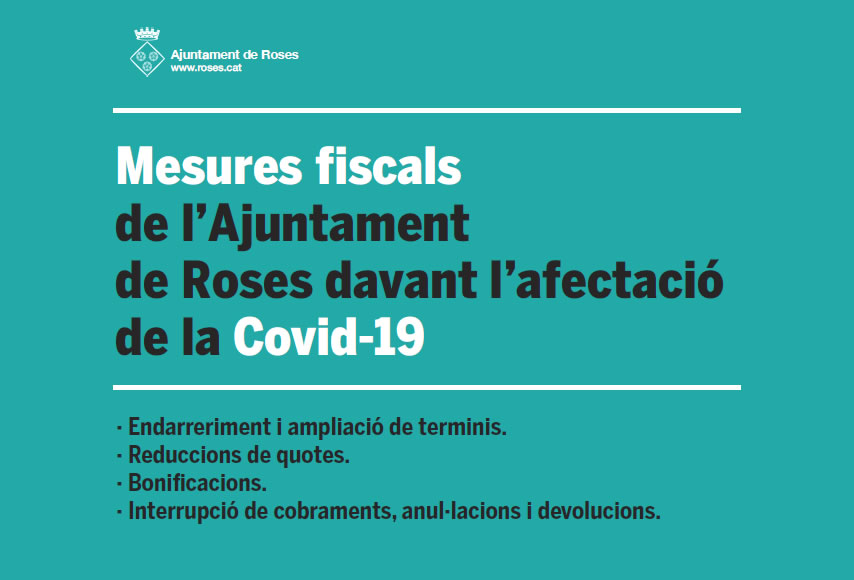 Noves mesures fiscals de l'Ajuntament de Roses davant l'afectació de la Covid-19