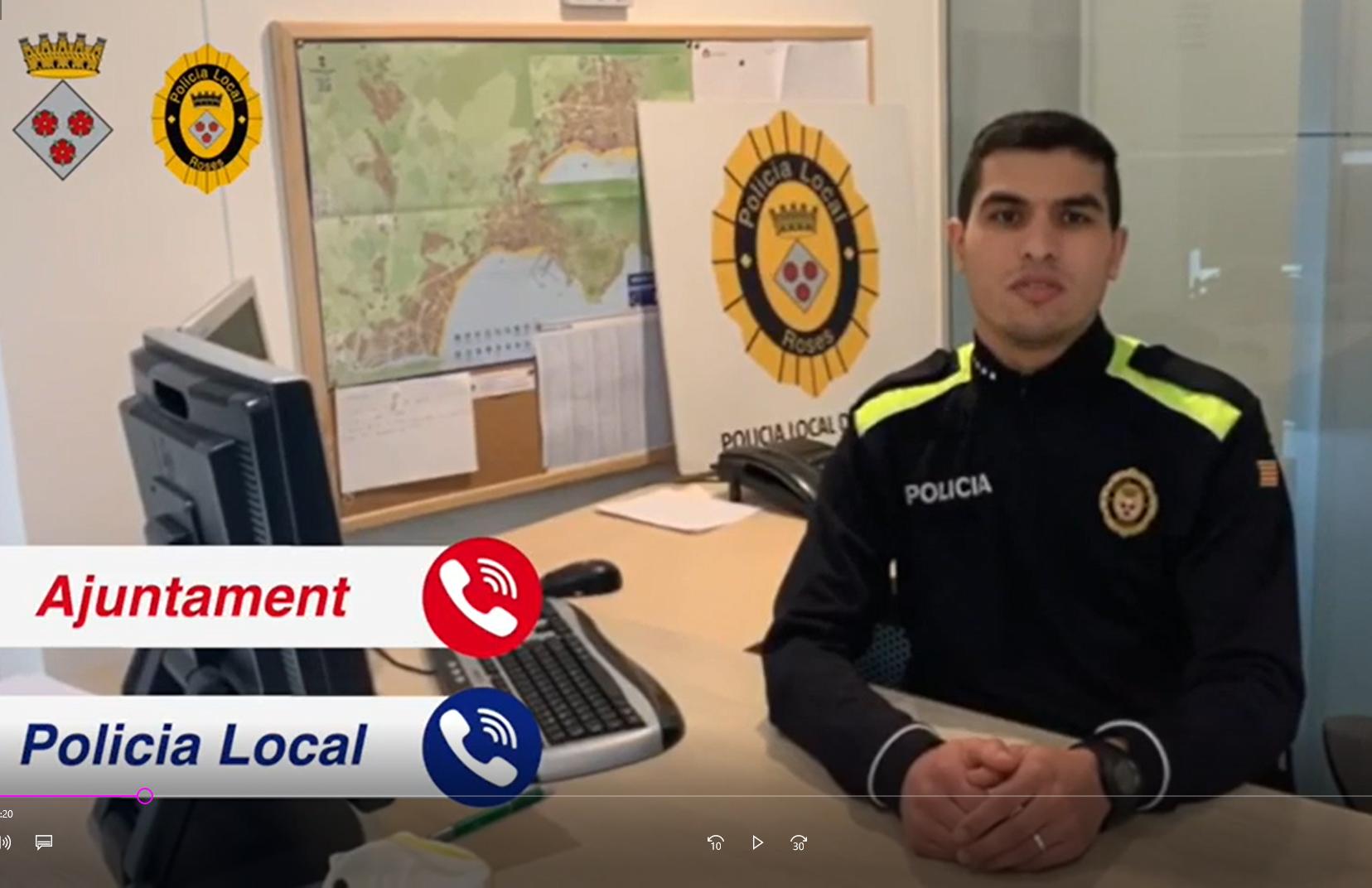 La Policia Local de Roses edita un vídeo informatiu amb recomanacions a seguir durant el ramadà