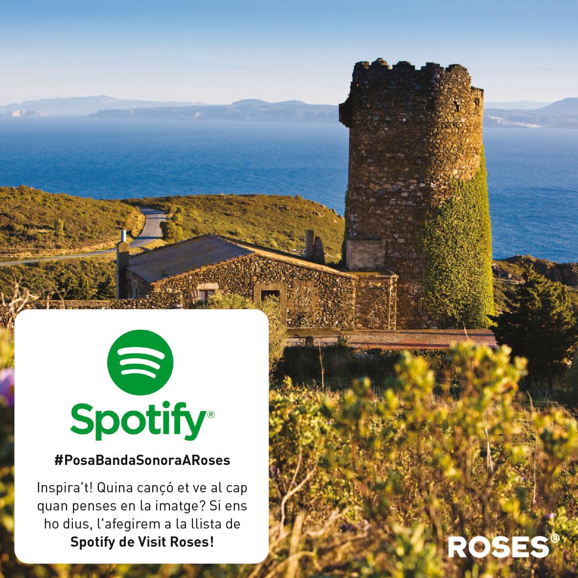 Llistes d'Spotify posaran banda sonora a Roses amb les cançons dels seguidors de Visit Roses