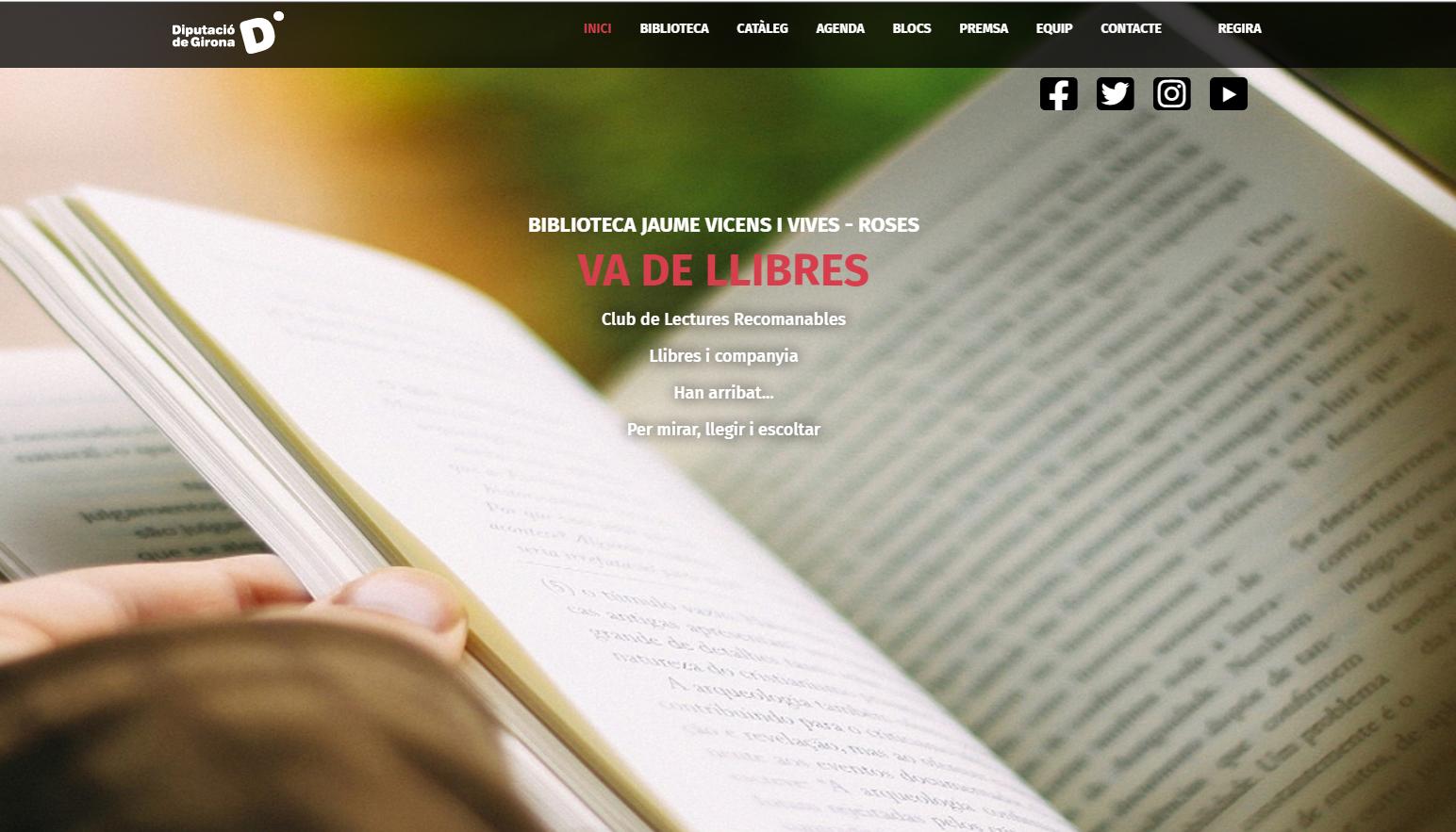 La Biblioteca de Roses renova la seva web