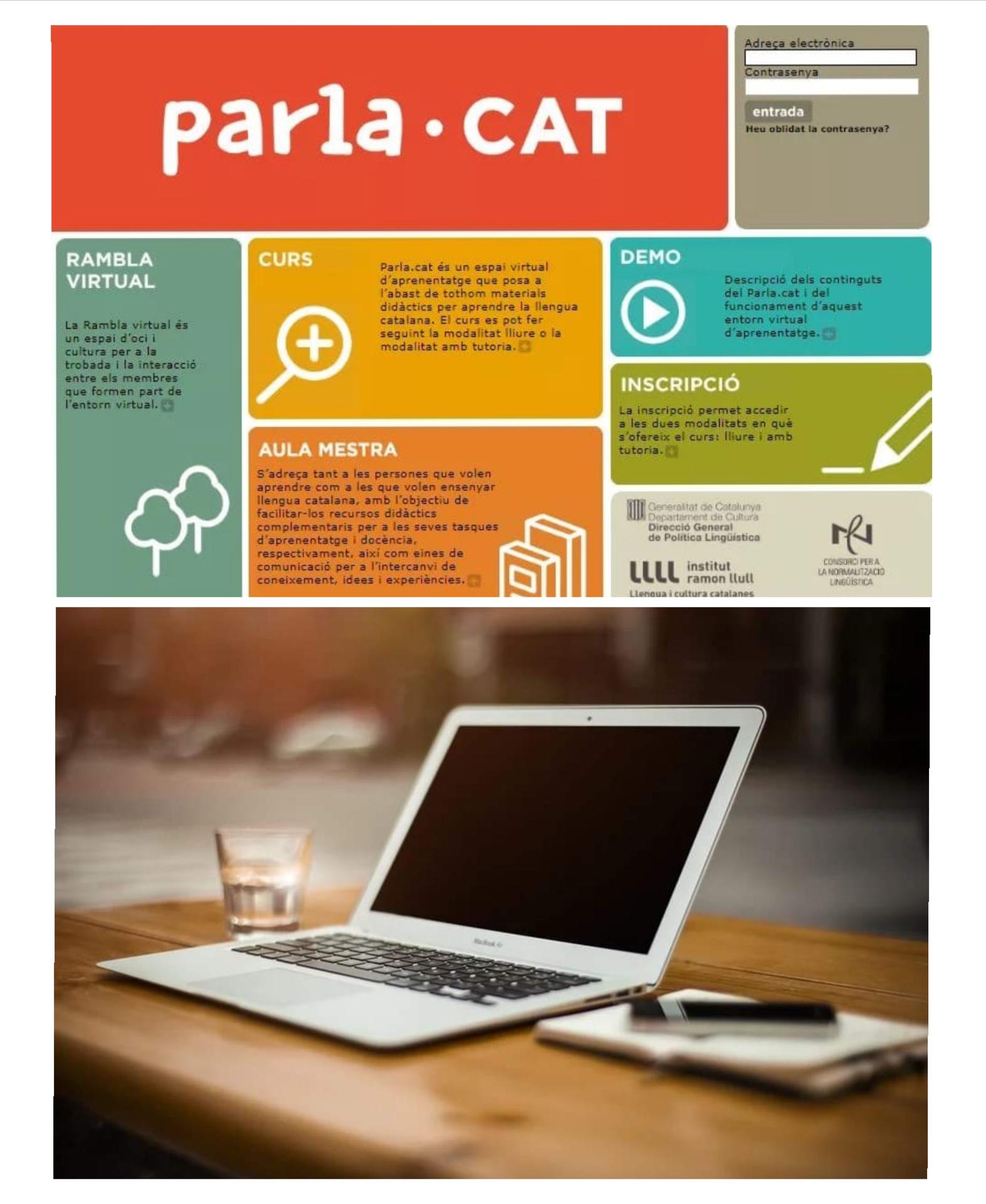 Cursos de català 100 % en línia a través de la plataforma Parla.cat