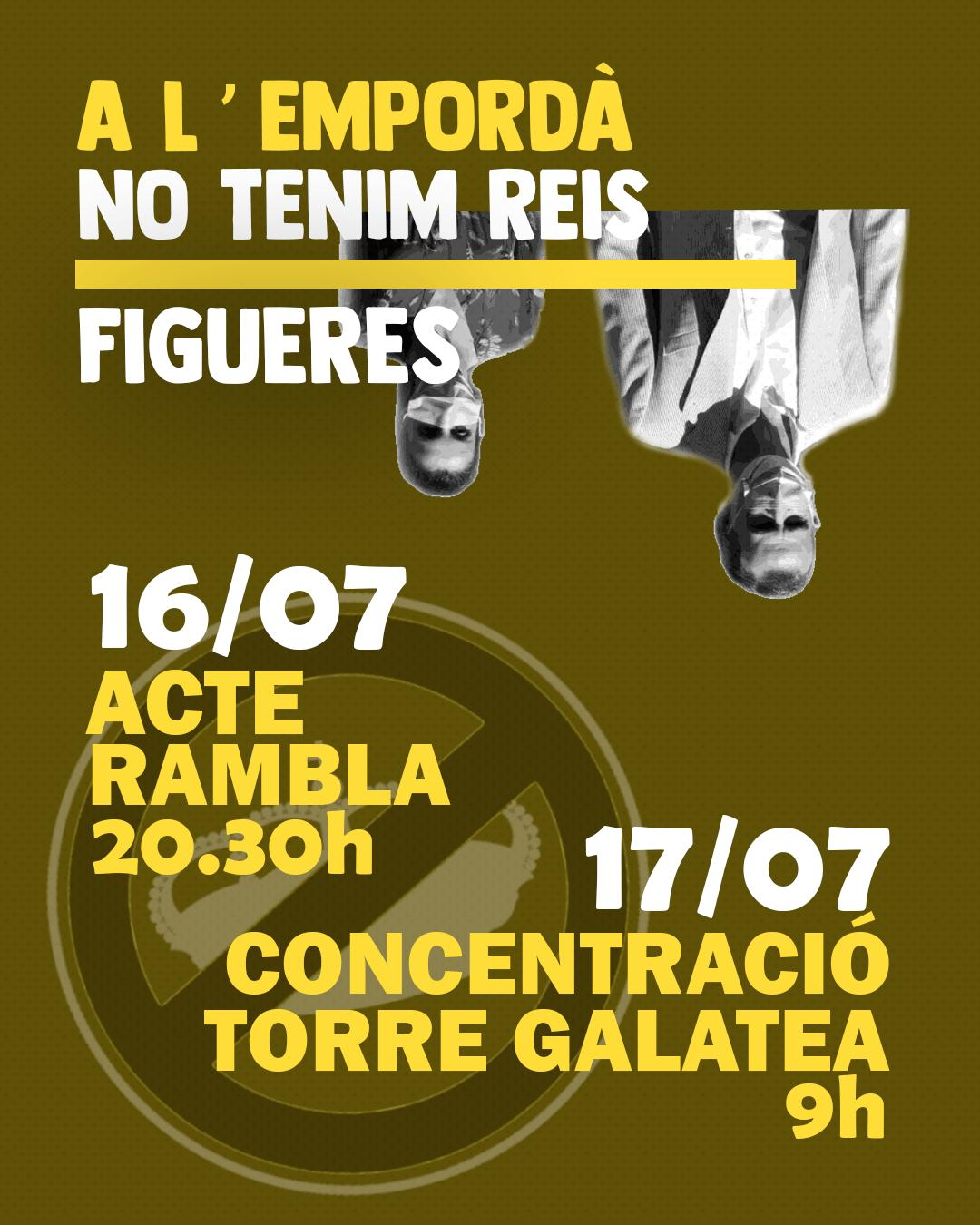 Concentracions en protesta de la visita dels Reis a Catalunya