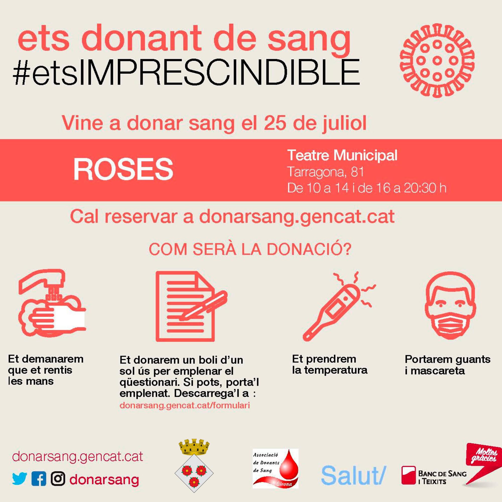 Roses acull una campanya especial de donació de sang