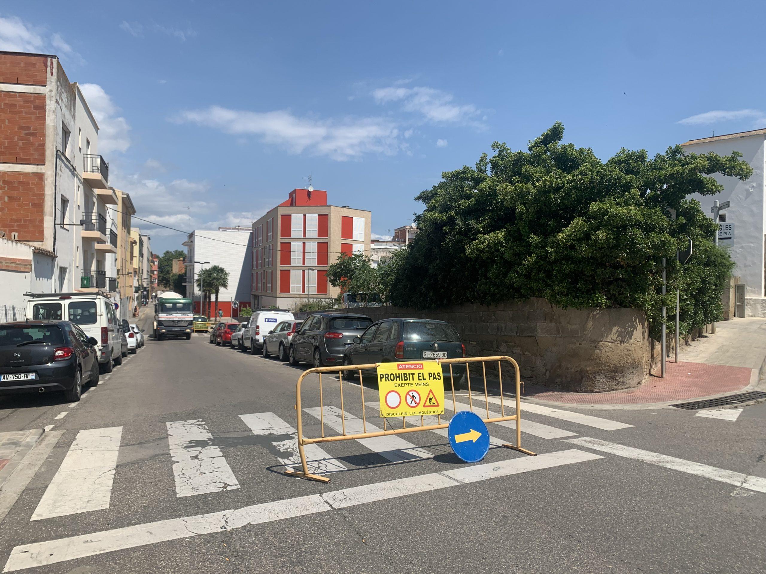 S'inicien les obres d'ampliació de voreres d'un tram del carrer Tarragona