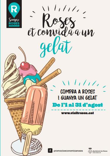 Roses et convida a un gelat