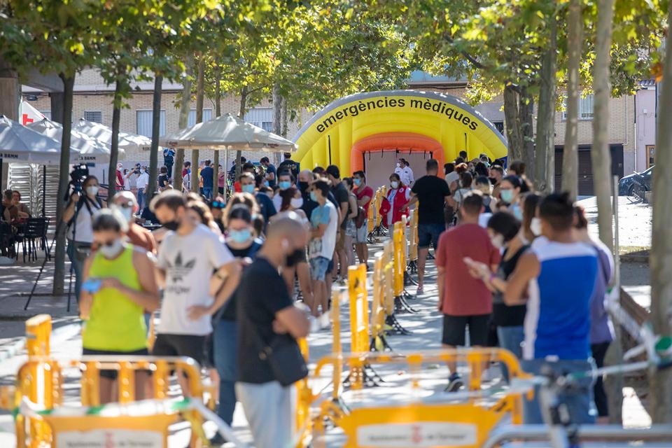 Cribratge massiu per detectar contagis de COVID a Vilafranca del Penedès i Santa Coloma de Gramenet