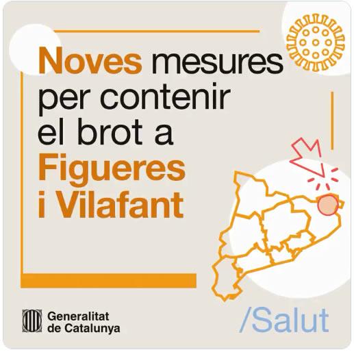Noves mesures de contenció del virus a Figueres i Vilafant