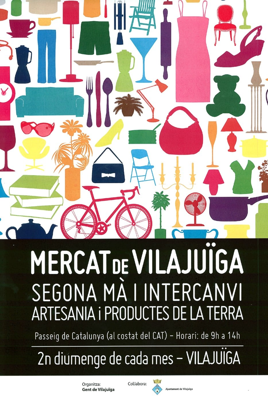 Mercat de Vilajuïga: Segona mà i intercanvi artesania i productes de la terra