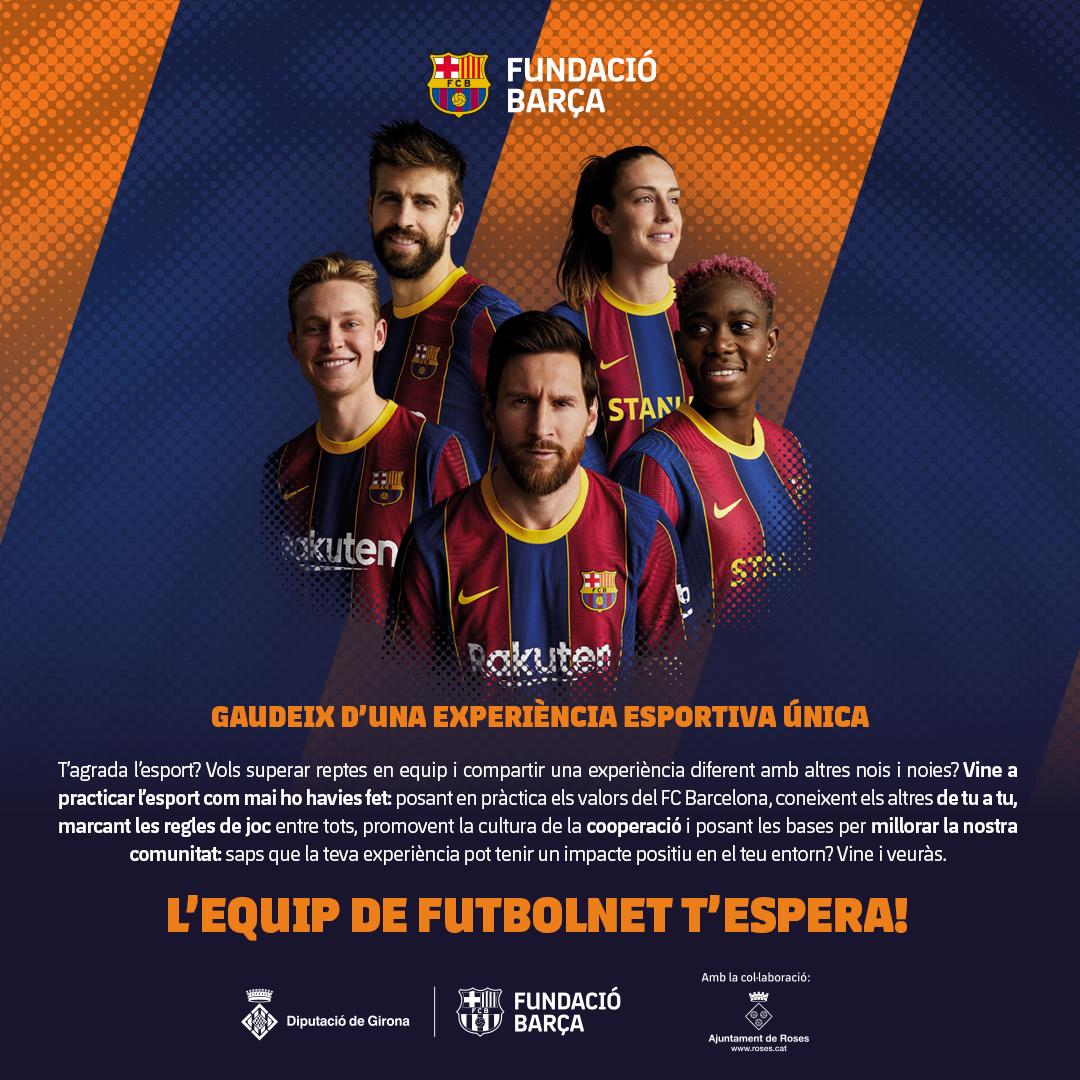Tornen a Roses les sessions del programa d'inclusió social de la Fundació Barça
