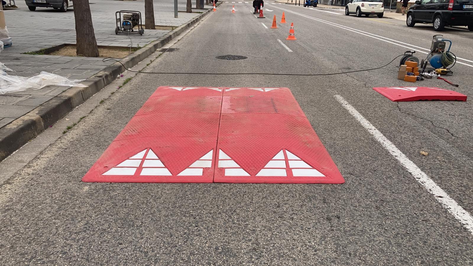 Nous reductors de velocitat a l'avinguda de Rhode per millorar la seguretat