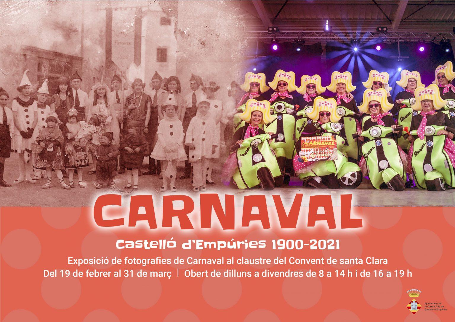 Castelló d'Empúries commemora el Carnaval amb una exposició de fotos antigues