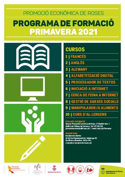 Dimecres 3 de febrer s'obren les inscripcions per als cursos d'idiomes, informàtica i higiene alimentària
