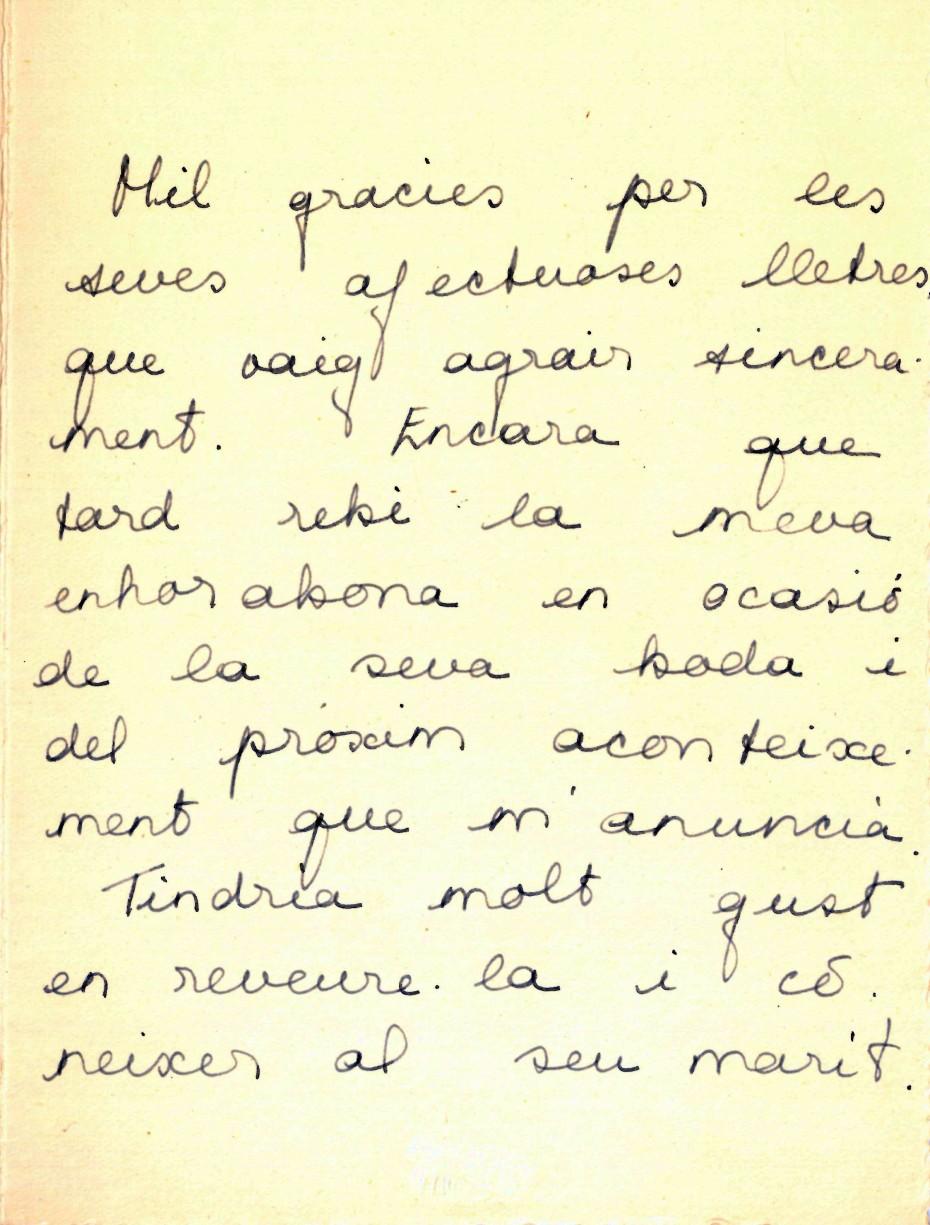 L'Arxiu Municipal de Roses presenta una carta d'Helena Cambó com a document del mes de març