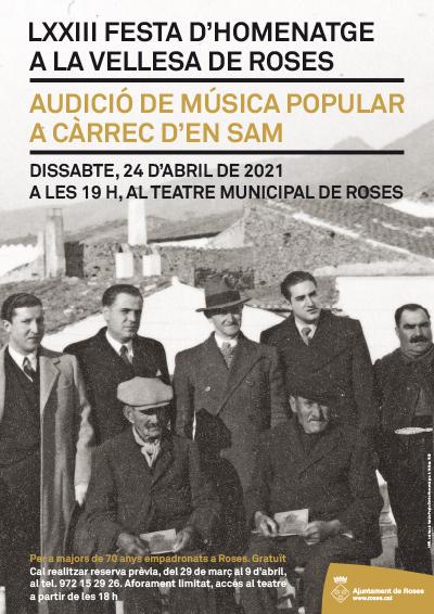 Un concert per a celebrar la 73a edició de la Festa de la Vellesa de Roses