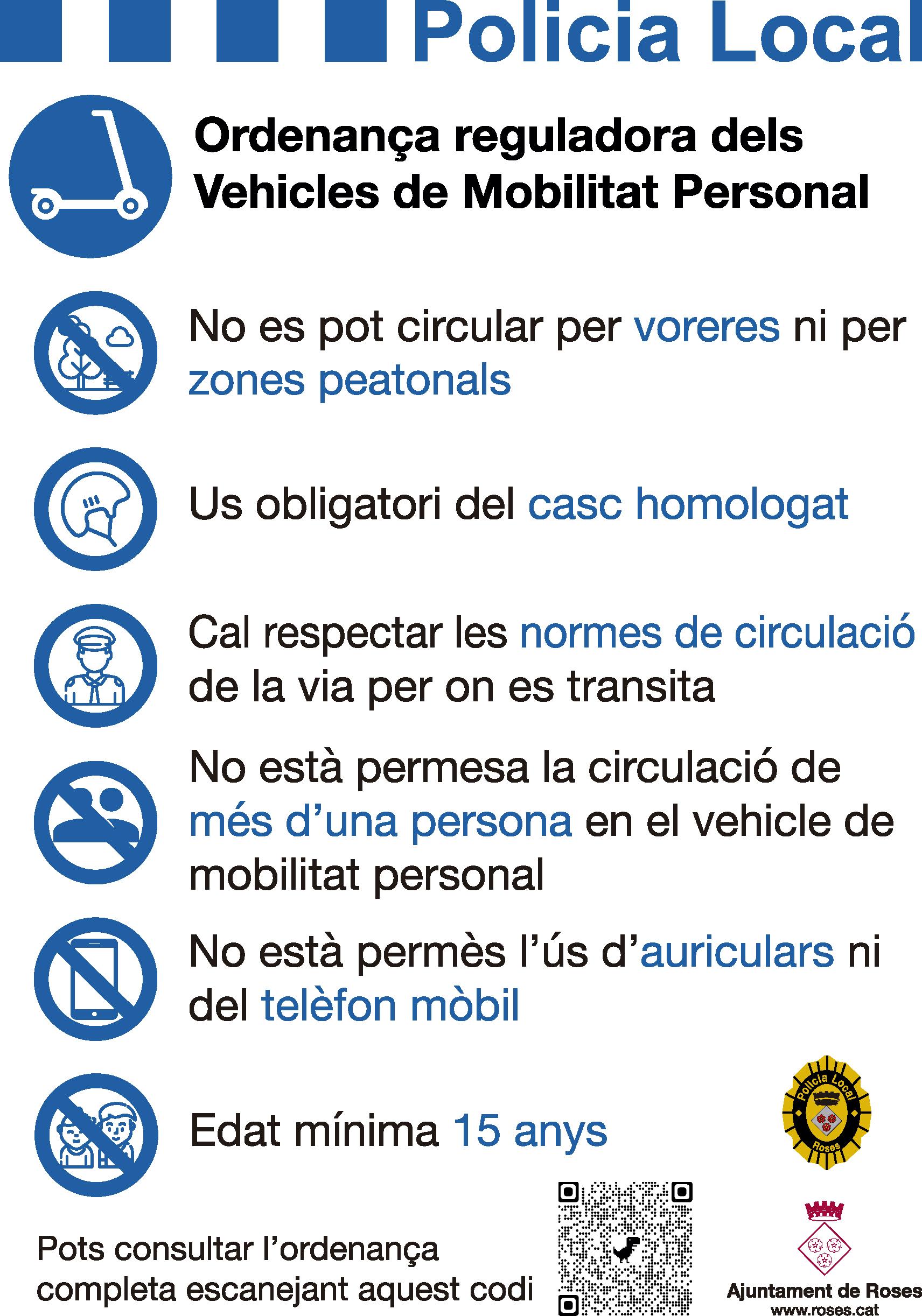 Roses regula l'ús dels patinets elèctrics, segways i resta de Vehicles de Mobilitat Personal a la Vila