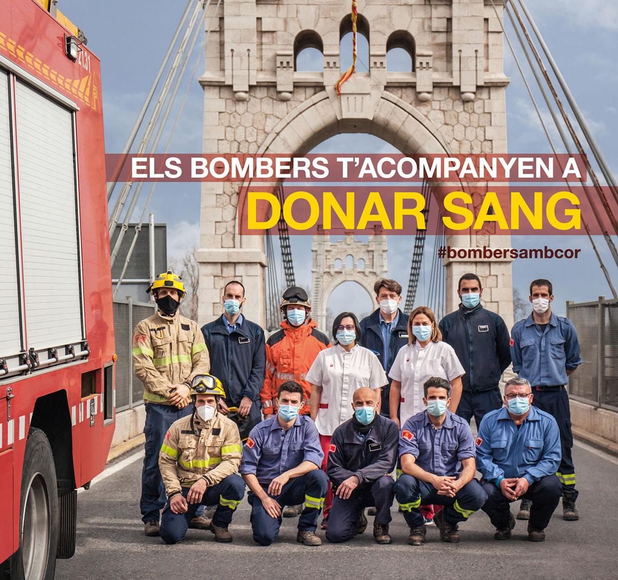 El 17 d'abril, els bombers t'acompanyen a donar sang
