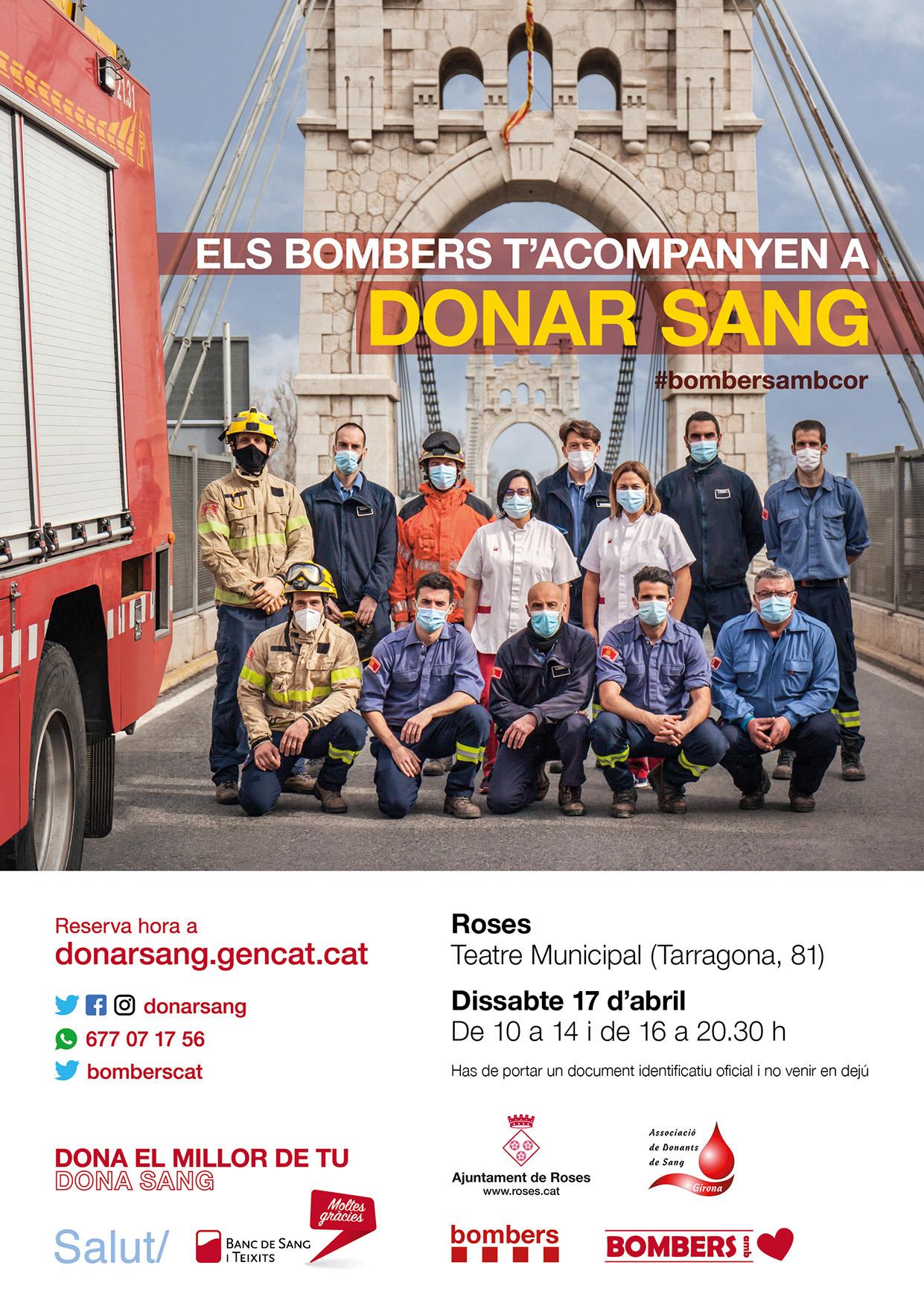 Els bombers t'acompanyen a donar sang