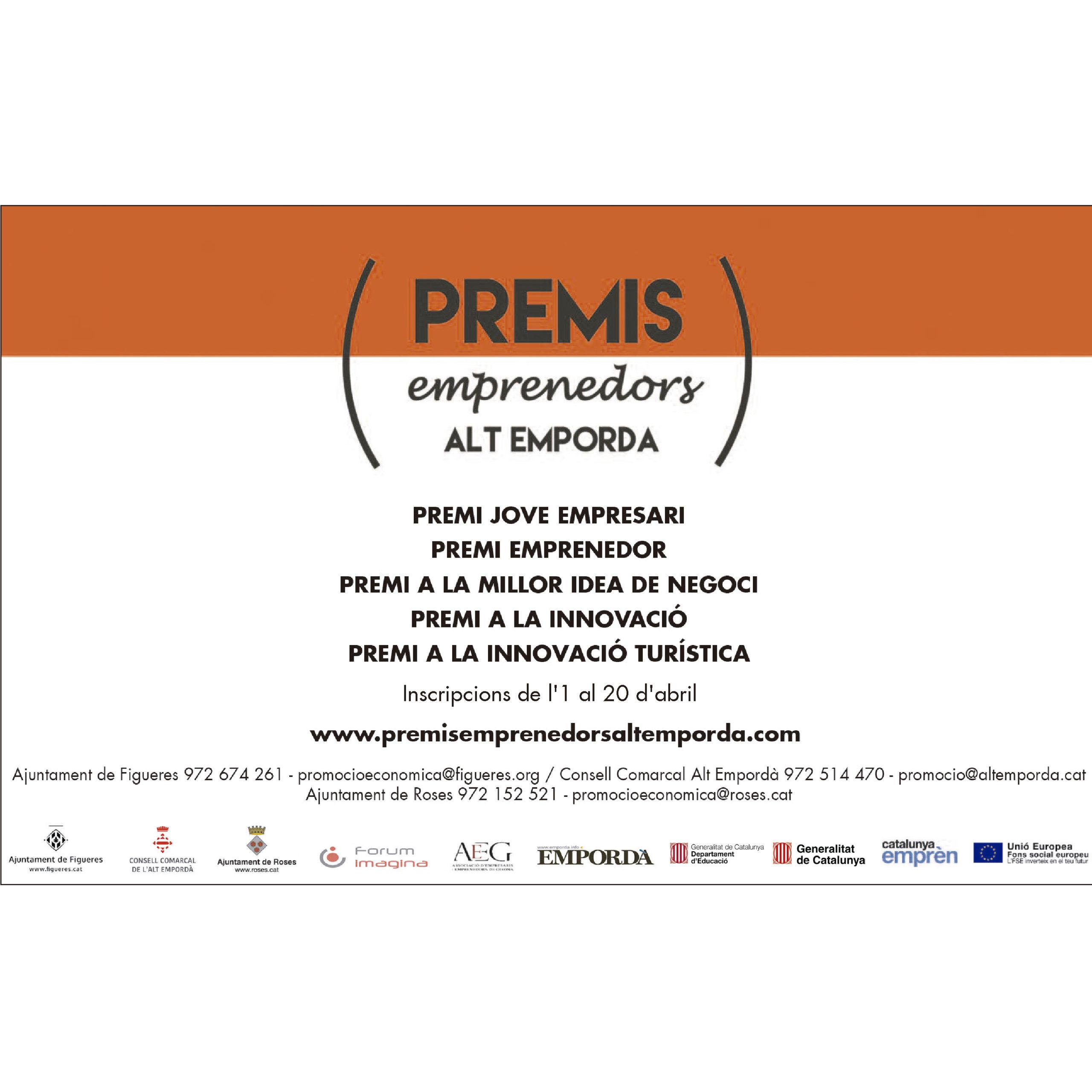 El Teatre de Roses acull els Premis Emprenedors de l'Alt Empordà, amb 23 projectes finalistes