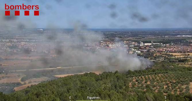 Nou incendi a la comarca de l'Alt Empordà, aquest cop a l'AP-7 al seu pas per Vilafant