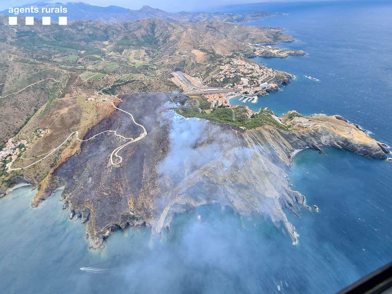 L'incendi de Portbou ja està estabilitzat