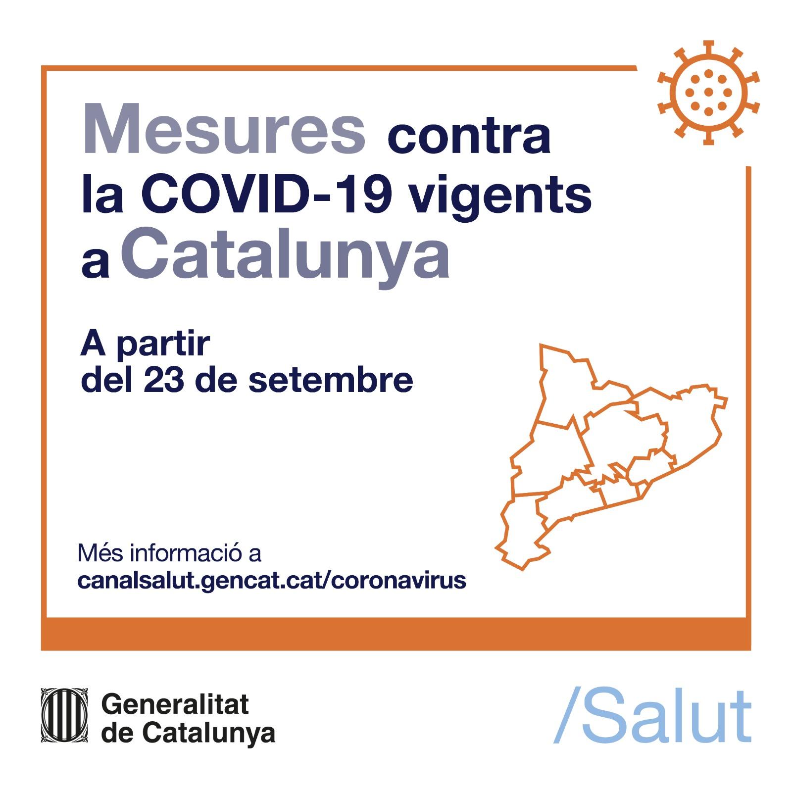 Mesures contra la COVID-19 vigents des del 23 de setembre