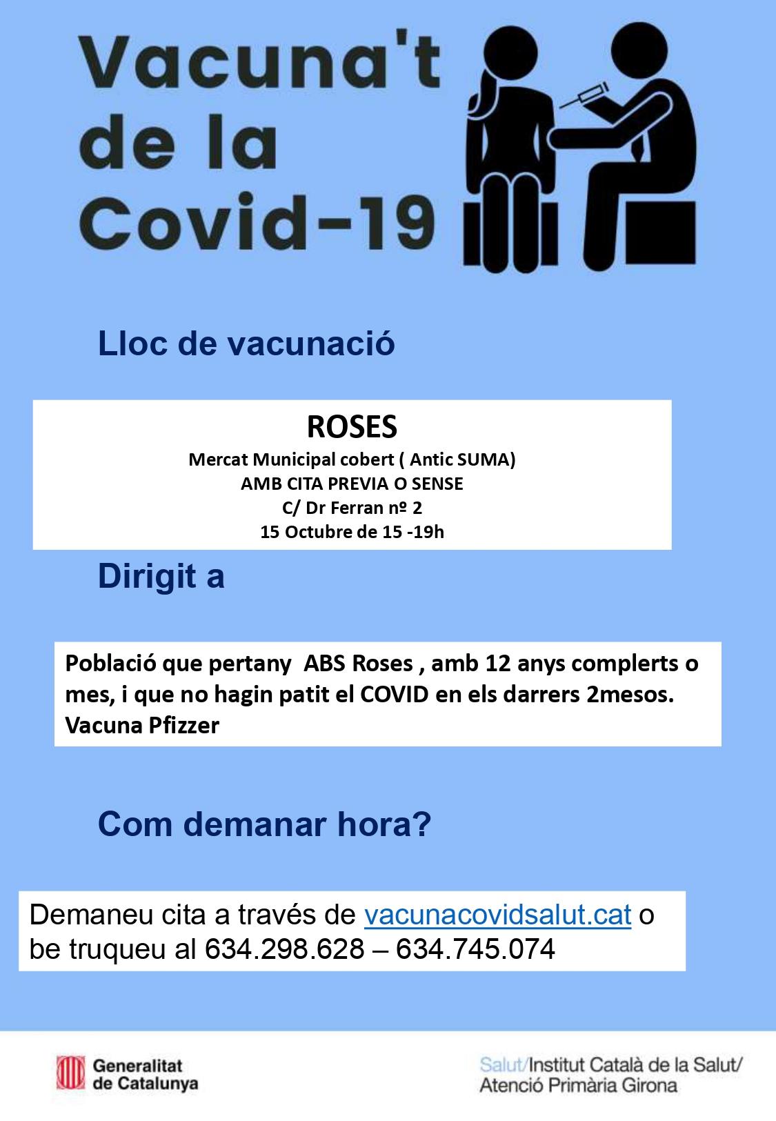 Jornada de vacunació a Roses