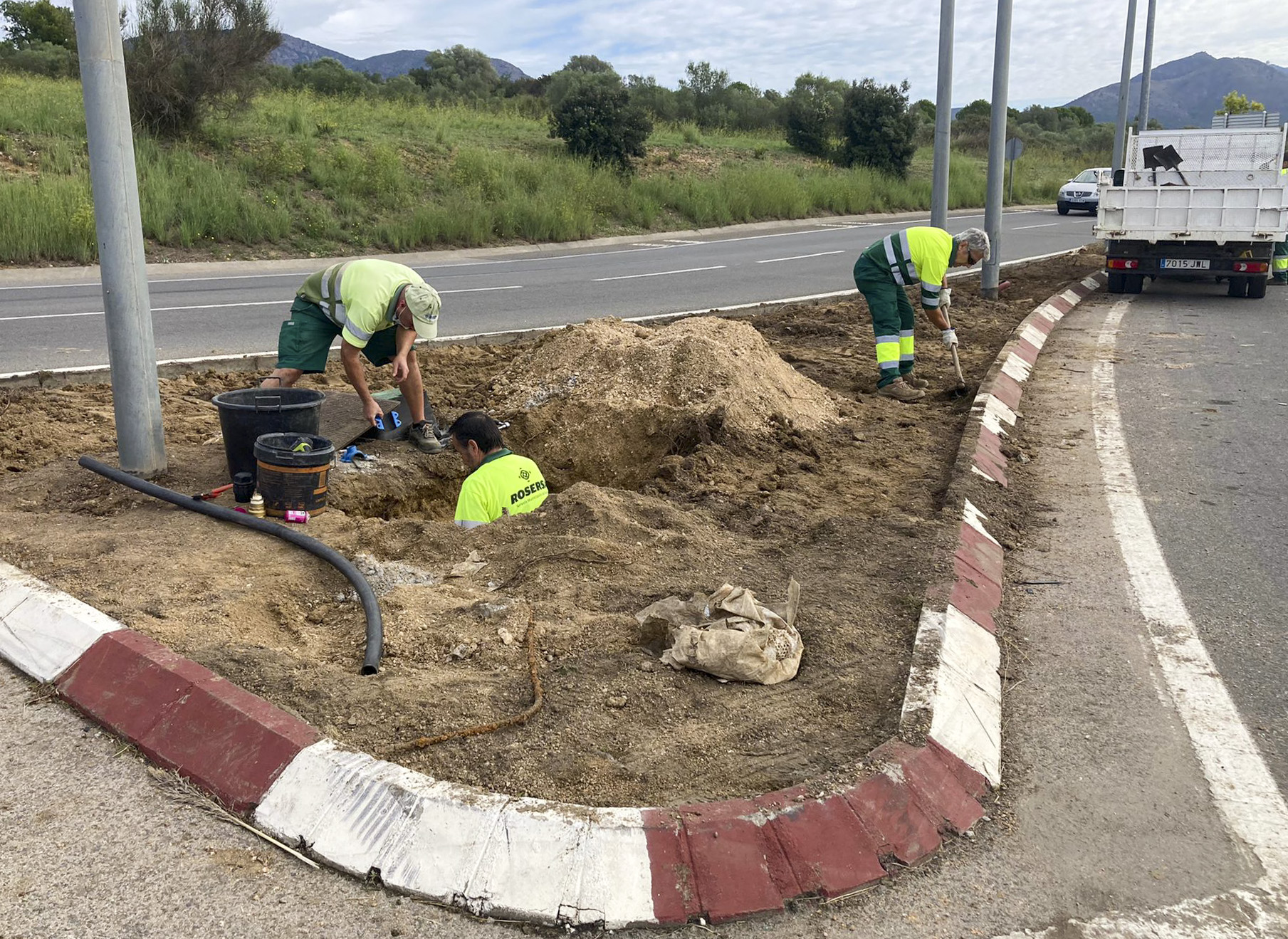 Renovació d'1 km de rosers a l'entrada de Roses